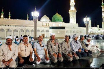 حال و هوای حجاج در مسجد النبی + تصاویر